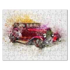 Car Old Car Art Abstract Rectangular Jigsaw Puzzl
