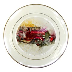 Car Old Car Art Abstract Porcelain Plates