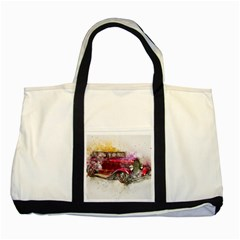 Car Old Car Art Abstract Two Tone Tote Bag