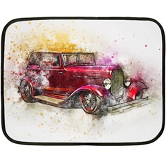 Car Old Car Art Abstract Double Sided Fleece Blanket (mini)  by Celenk