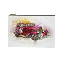 Car Old Car Art Abstract Cosmetic Bag (large)