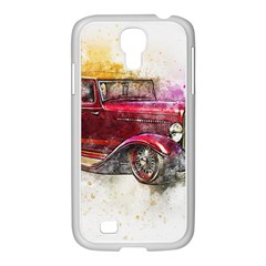 Car Old Car Art Abstract Samsung Galaxy S4 I9500/ I9505 Case (white) by Celenk