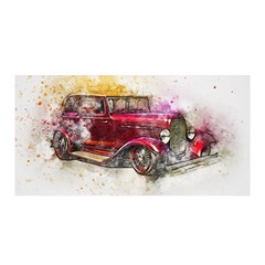 Car Old Car Art Abstract Satin Wrap
