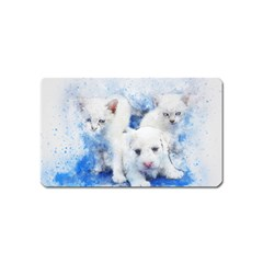 Dog Cats Pet Art Abstract Magnet (name Card) by Celenk