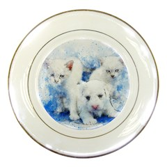 Dog Cats Pet Art Abstract Porcelain Plates