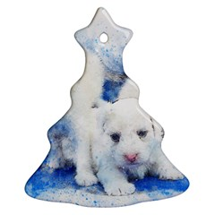 Dog Cats Pet Art Abstract Christmas Tree Ornament (two Sides) by Celenk