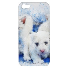 Dog Cats Pet Art Abstract Apple Iphone 5 Hardshell Case