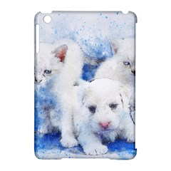 Dog Cats Pet Art Abstract Apple Ipad Mini Hardshell Case (compatible With Smart Cover) by Celenk