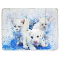 Dog Cats Pet Art Abstract Samsung Galaxy Tab 7  P1000 Flip Case by Celenk