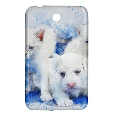 Dog Cats Pet Art Abstract Samsung Galaxy Tab 3 (7 ) P3200 Hardshell Case  by Celenk
