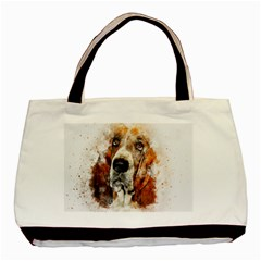 Dog Basset Pet Art Abstract Basic Tote Bag