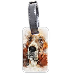 Dog Basset Pet Art Abstract Luggage Tags (one Side)