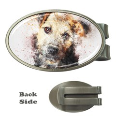 Dog Animal Pet Art Abstract Money Clips (oval)