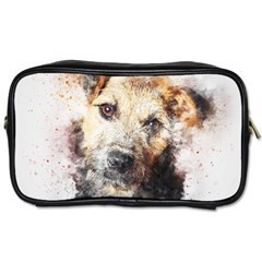 Dog Animal Pet Art Abstract Toiletries Bags 2 Side