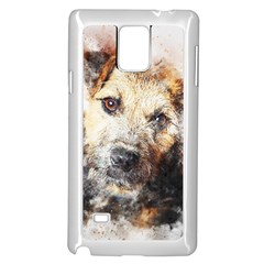 Dog Animal Pet Art Abstract Samsung Galaxy Note 4 Case (white) by Celenk