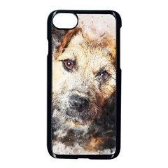 Dog Animal Pet Art Abstract Apple Iphone 8 Seamless Case (black) by Celenk