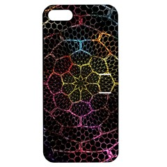 Background Grid Art Abstract Apple Iphone 5 Hardshell Case With Stand by Celenk