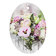 Flowers Bouquet Art Abstract Ornament (oval) by Celenk