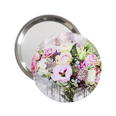 Flowers Bouquet Art Abstract 2 25  Handbag Mirrors