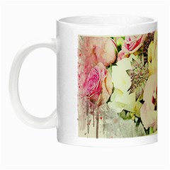 Flowers Bouquet Art Abstract Night Luminous Mugs by Celenk