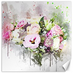 Flowers Bouquet Art Abstract Canvas 12  X 12
