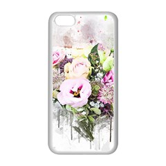 Flowers Bouquet Art Abstract Apple Iphone 5c Seamless Case (white)