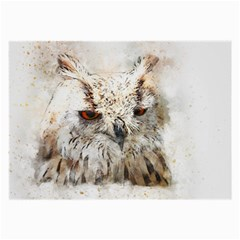 Bird Owl Animal Art Abstract Large Glasses Cloth (2 Side) by Celenk