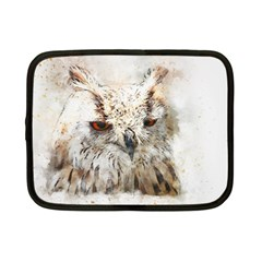 Bird Owl Animal Art Abstract Netbook Case (small)  by Celenk