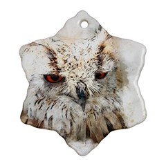 Bird Owl Animal Art Abstract Ornament (snowflake)