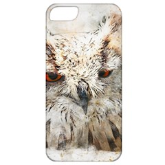 Bird Owl Animal Art Abstract Apple Iphone 5 Classic Hardshell Case
