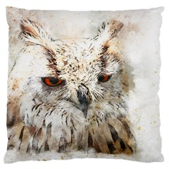 Bird Owl Animal Art Abstract Large Flano Cushion Case (two Sides) by Celenk