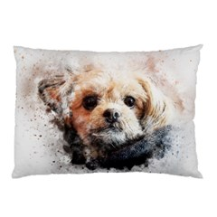 Dog Animal Pet Art Abstract Pillow Case (two Sides) by Celenk