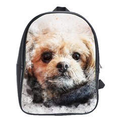 Dog Animal Pet Art Abstract School Bag (xl) by Celenk