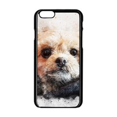 Dog Animal Pet Art Abstract Apple Iphone 6/6s Black Enamel Case by Celenk