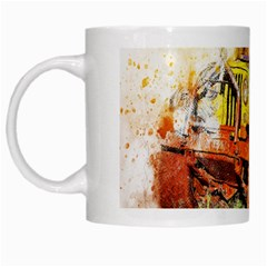 Car Old Car Fart Abstract White Mugs by Celenk
