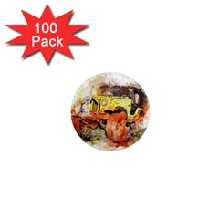Car Old Car Fart Abstract 1  Mini Magnets (100 Pack)  by Celenk