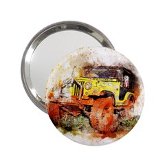 Car Old Car Fart Abstract 2 25  Handbag Mirrors by Celenk