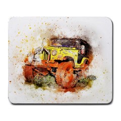 Car Old Car Fart Abstract Large Mousepads by Celenk