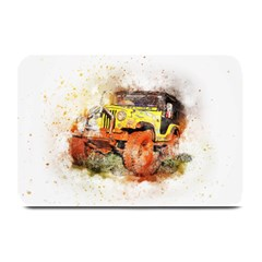 Car Old Car Fart Abstract Plate Mats