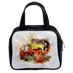 Car Old Car Fart Abstract Classic Handbags (2 Sides)