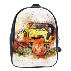 Car Old Car Fart Abstract School Bag (large) by Celenk