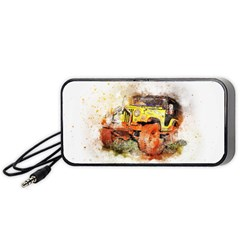 Car Old Car Fart Abstract Portable Speaker by Celenk