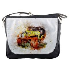 Car Old Car Fart Abstract Messenger Bags by Celenk