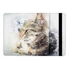 Cat Animal Art Abstract Watercolor Samsung Galaxy Tab Pro 10 1  Flip Case by Celenk