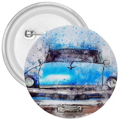Car Old Car Art Abstract 3  Buttons by Celenk