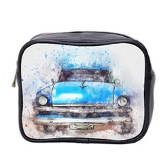 Car Old Car Art Abstract Mini Toiletries Bag 2 Side by Celenk