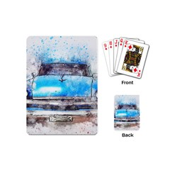 Car Old Car Art Abstract Playing Cards (mini)