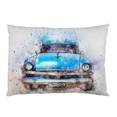 Car Old Car Art Abstract Pillow Case (two Sides)
