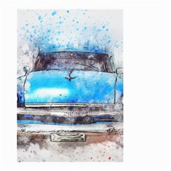 Car Old Car Art Abstract Small Garden Flag (two Sides) by Celenk