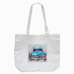 Car Old Car Art Abstract Tote Bag (white) by Celenk